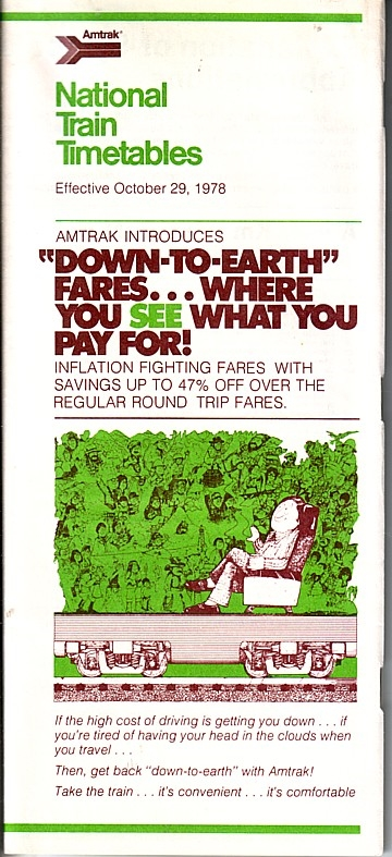 Amtrak National Train Timetables 1978