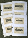 SLM locomotive postcards (16 cards)